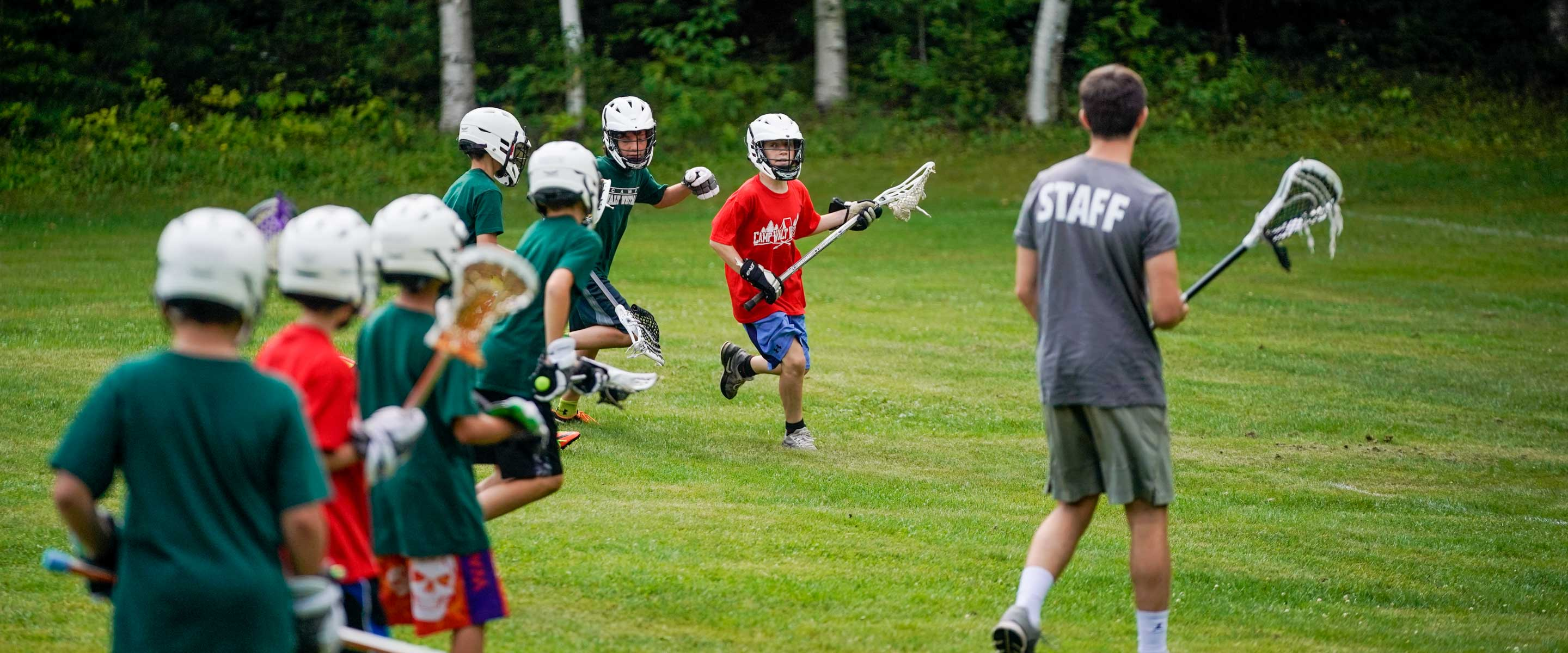 campers playing lacrosse