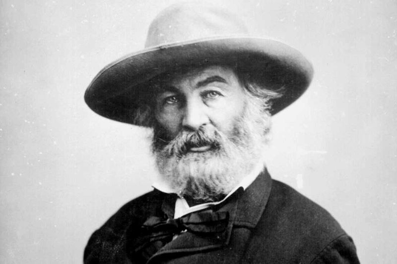 black and white picture of walt whitman
