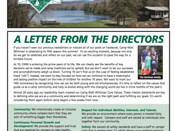 walt street journal: a letter from the directors