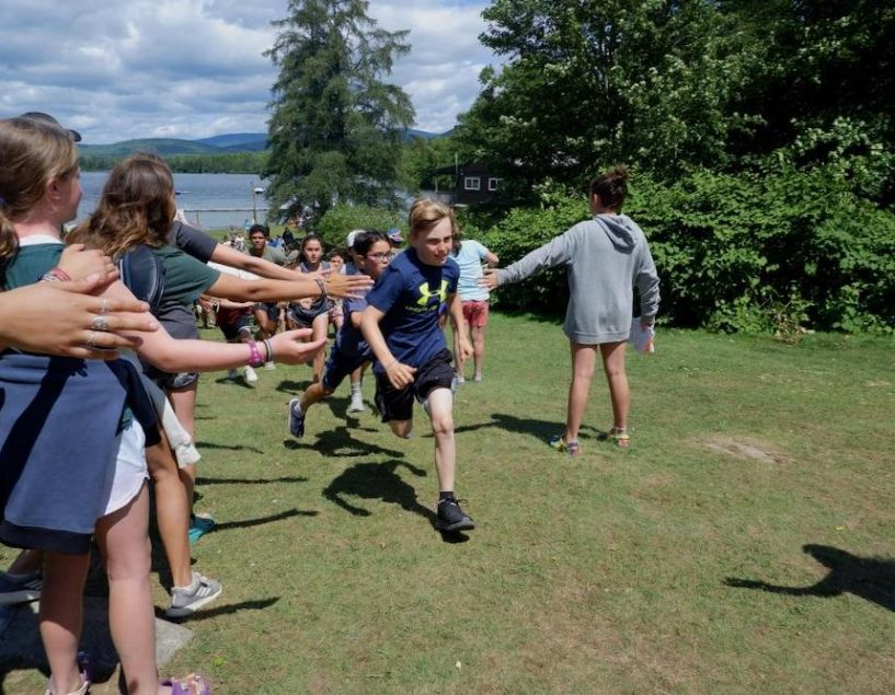 boys and girls playing at camp