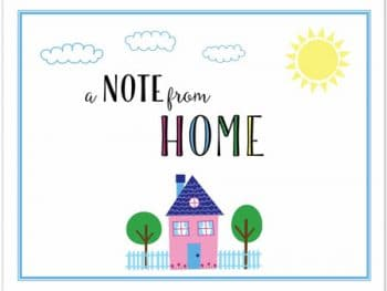 a note from home poster